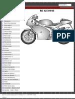 Aprilia RS125 Parts Diagrams Exploded
