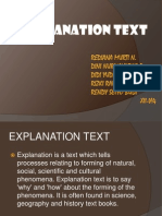 Explanation Text - Earthquakes