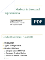 Gradient Methods in Structural Optimization