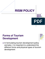 9 Tourism Policy