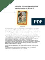Participación de Bolívar en la gesta emancipadora