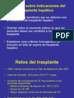 Objetivos Sobre Indicaciones Del Trasplante Hepático