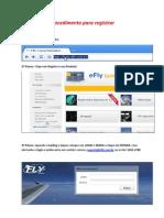 Procedimento Para Registrar Efly