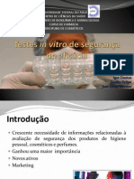 Testes in vitro de segurança de eficácia