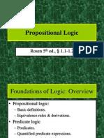 1. Propositional Logic