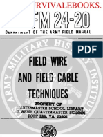 1960 US Army Vietnam War Field Wire & Field Cable Techniques 289p