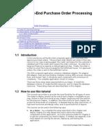 e2e 105 POProcessing 01 Intro Setup