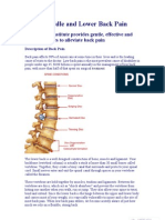 Upper , Middle and Lower Back Pain