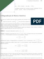 diagonalização de matrizes simétricas