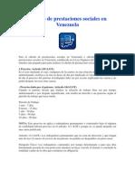 .Cálculo de prestaciones sociales en Venezuela