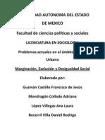 Marginación, Exclusión y Desigualdad social