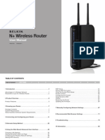 Belkin N+ Router Manual
