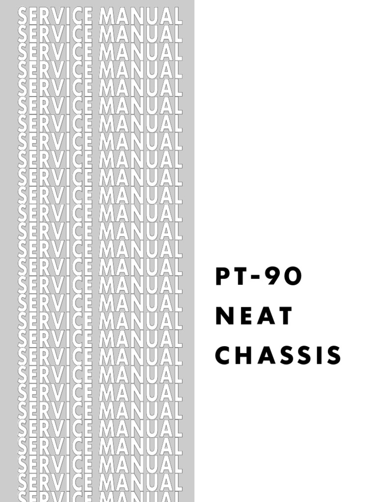 Chassis PT 90 NEAT Service Manual | Compact Disc | Mosfet