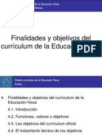 4. Finalidades y objetivos de la educación física