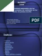 Potencialidad matemática de las diferentes unidades de contenido