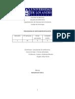 Programa Sociantropología B-2011