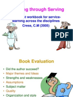 Book Report Learning by Serving Prepared by Du ToitLotterMolateSebola