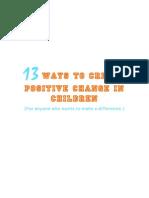 13+Ways+to+Create+Positive+Change+in+Children Gemma Bailey