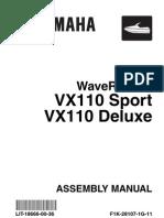Yamaha Owners Manual VX110