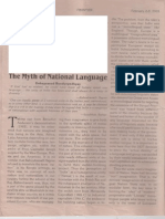 """Myth of National Language."""