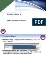 Building a Better UI