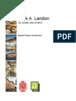 Portfolio of Mark A. Landon, AIA. NCARB, LEED AP BD+C