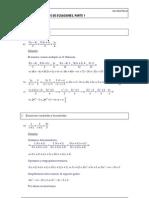 Ecuaciones Resueltas 4eso Parte1