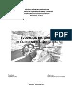 EVOLUCIÓN HISTÓRICA DE LA INGENIERÍA INDUSTRIAL