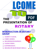 Presentation of Rotary Group