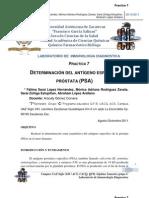 DETERMINACIÓN DEL ANTÍGENO ESPECÍFICO DE PRÓSTATA (PSA)
