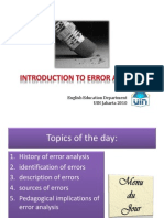 Unit 3 - Introduction to Error Analysis