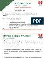 Proceso Trabajo de Grado 2011-2012