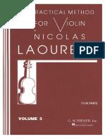 VIOLINO - MÉTODO - Laoureux - Volume 3