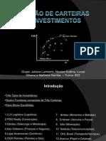 Administração Financeira I - Seleção de Carteiras de Investimentos