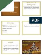 1 - ECOLOGIA GERAL - TEMA 1- Conceitos Fundamentais