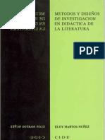 Metodos y Diseños en la investigación de la didactica de la literatura[1]