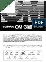 Olympus OM3Ti Manual