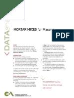 Mortar Mixes 1