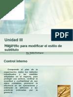 AUDITORIA Unidad III Control Interno