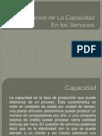 Planeación de La Capacidad en los Servicios