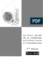Mini guide de la Recherche Automatique d'informations