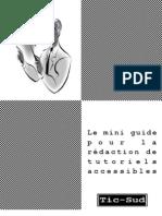 Mini guide pour la Rédaction de Tutoriels Informatiques Accessibles