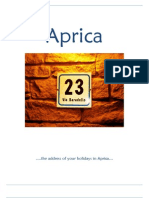Pamphlet Aprica (English)