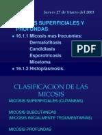Ficha 16 Micosis Superficiales y Profundas