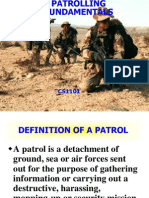 Patrolling - Lesson Plan