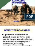 Patrolling - Lesson Plan