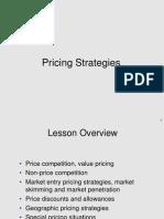 Class 3, Oct 20 - Pricing Strategies