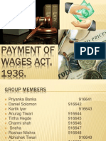 Payment of Wages- LAW