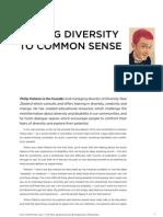 Philip Patston — Adding Diversity to Common Sense