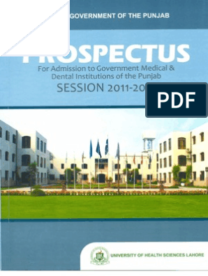 Full Prospectus Final | University And College Admission